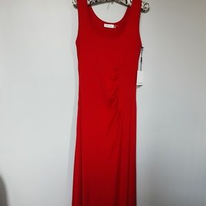 CALVIN KLEIN SLEEVELESS  MAXI DRESS. 10